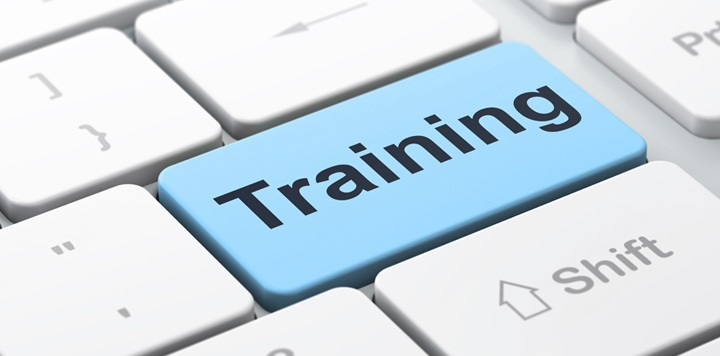 Clip Art of Keyboard that says training