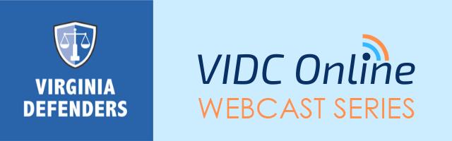 VIDC Webcast Series