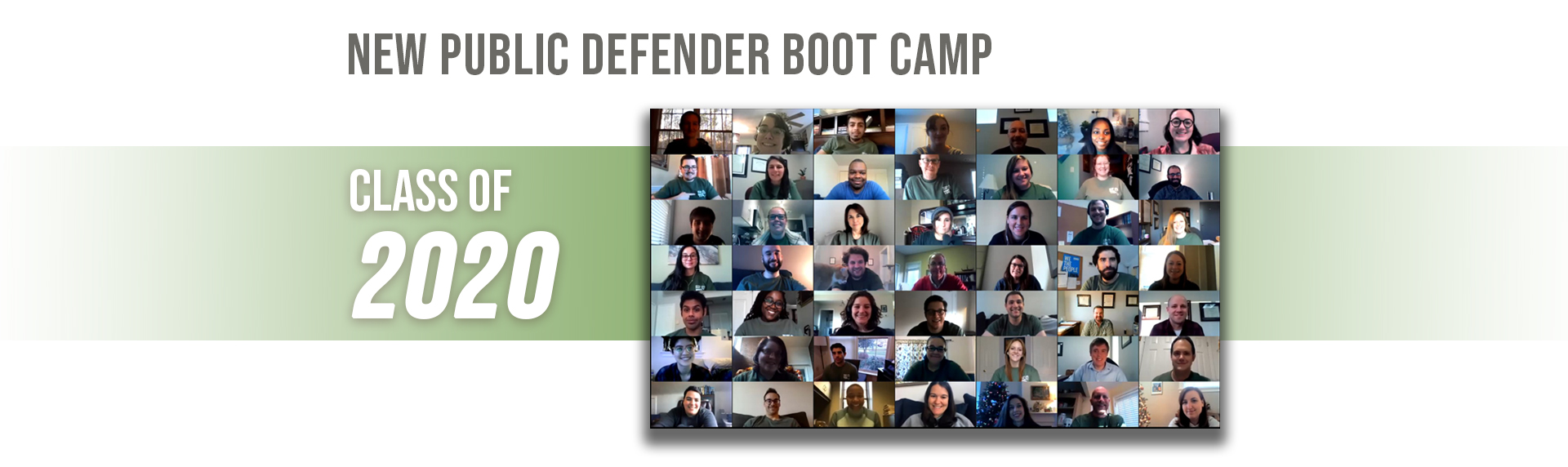 New Public Defender Boot Camp Class of 2020 photo
